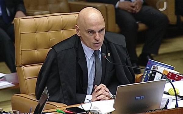 Ministro Alexandre de Moraes, do Supremo Tribunal Federal: investigação apura ofensas contra membros da Corte (YouTube/Reprodução)