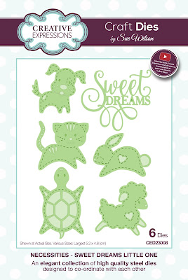 Creative Expressions Necessities Collection Sweet Dreams Little One Dies CED23008