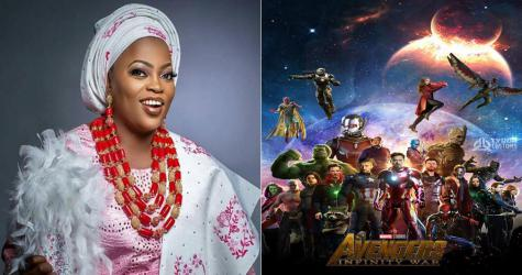it is no longer news that actress, Funke Akindele aka Jenifa has been announced to star in Marvel's upcoming heavyweight movie, Avengers: Infinity war.