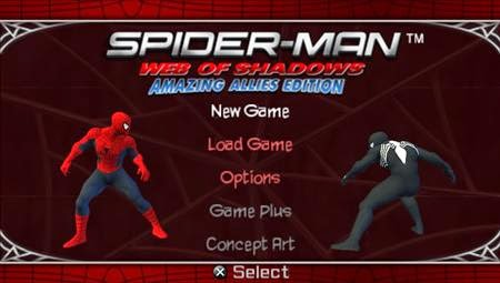 Spiderman Web of Shadows (PSP) - Download Game PS1 PSP Roms Isos