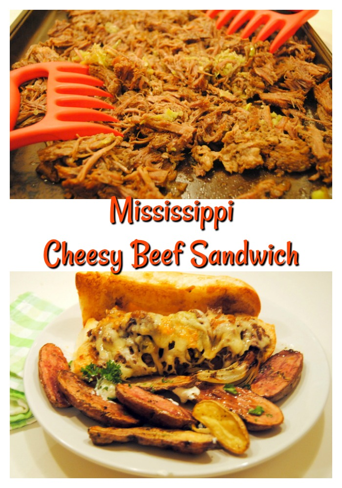 Mississippi Cheesy Beef Sandwich