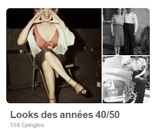 tableau pinterest look vintage années 40-50