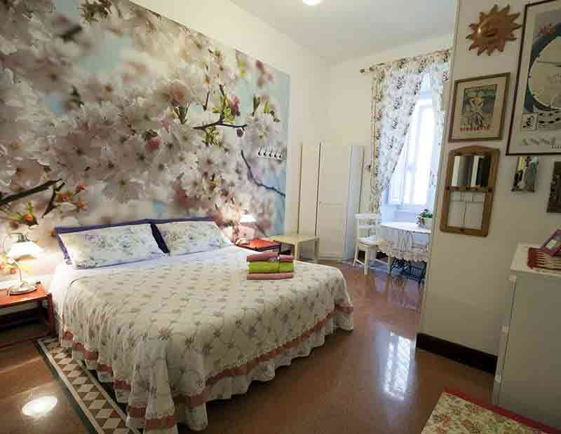 stanza matrimoniale in b&b a Roma
