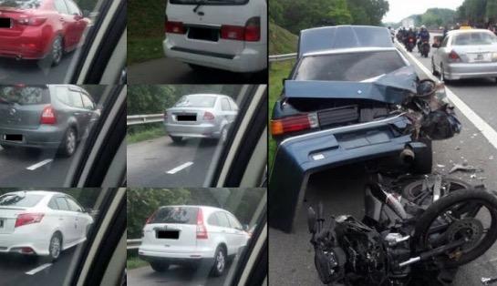 Pemandu Guna Laluan Kecemasan Ketika kemalangan Di Kilometer 228.6 Akan Disaman
