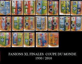 Fanions de football fanions xl finale coupe du monde 1930 - Finale coupe du monde 2010 ...