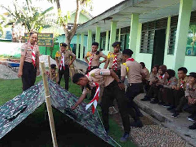 Saka Wira Kartika SMAN 2 Buru Gelar Outdoor Activity di Kodim Namlea