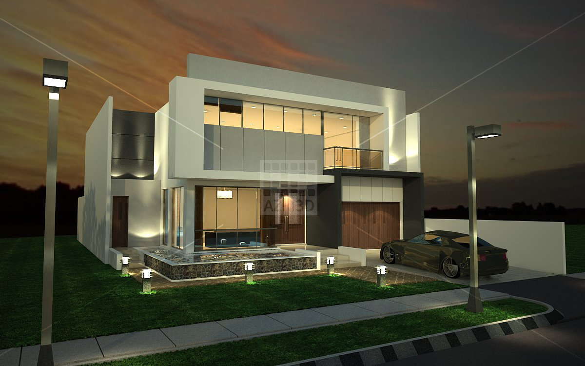 Azri3d 39 s max and sketchup tutorial sketchup vray exterior night scene for Setting render vray sketchup exterior