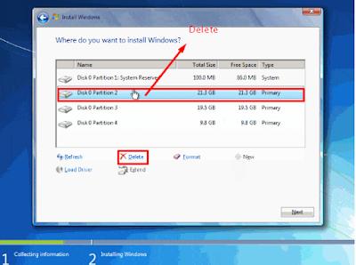 cara instal windows 7 dengan cd / DVD