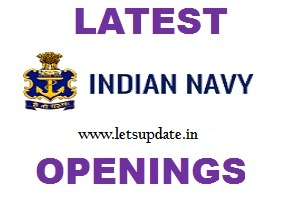 jobs in navy for Executive Branch (Naval Armament Inspectorate Cadre) & Short Commission Officers in Executive Branch (General Service/ Hydro Cadre)/ Technical Branch (General Service), letsupdate