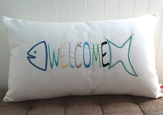 Coastal Nautical Beach Welcome Pillow Ideas