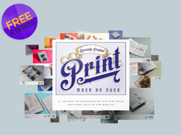 Download 6 Print Mock Up Pack Free