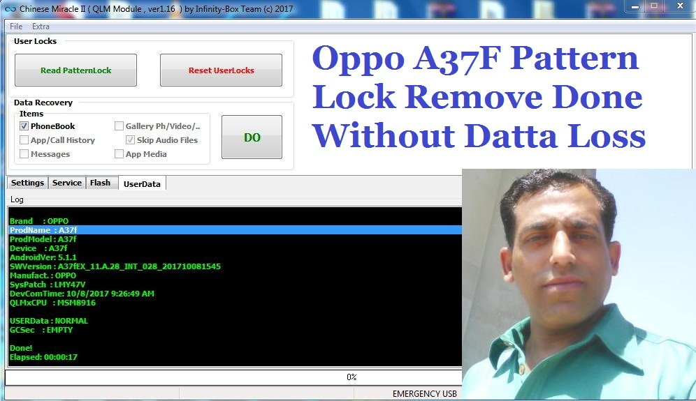 Oppo A37F Pattern Lock Remove Done By CM2 Without Datta Loss
