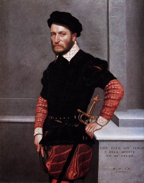 Giovanni Battista Moroni (c. 1520/24 - 1579) Portrait of Don Gabriel de la Cueva, later Duke of Alburquerque