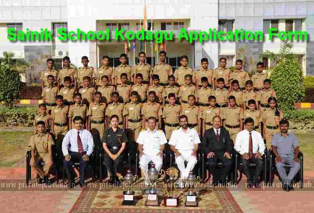 Sainik School Kodagu Application Form 2018-19 Admission Class VI, IX Notice