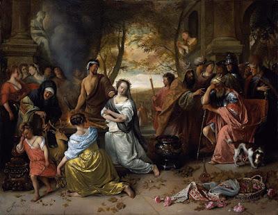 The Sacrifice of Ipheginia by Agamemnon (1671) Jan Steen