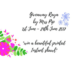 Giveaway Raya by Mrs Pip