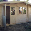 Warminster log cabin installed in Caterham, Surrey - Borkum log cabin