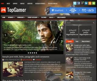 TopGamer Responsive Blogger Template