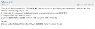 Petunjuk Sinkronisasi Gladi Bersih UNBK 2018