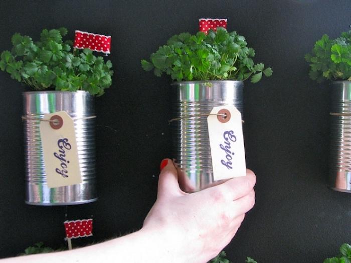10 maneras creativas de reciclar latas, maceteros.