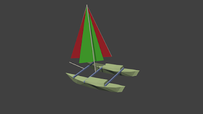3D Model of  Wharram Tiki 21 created using Blender 3D