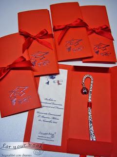 bomboniera laurea segnalibro coccinella rossa