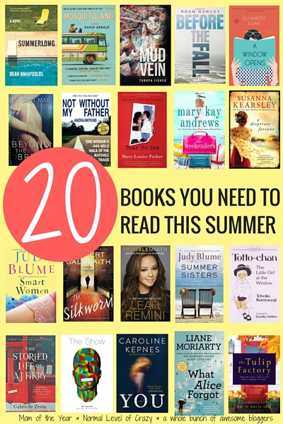 Wa-hoo! Summer is here and that means summer reading is here! Looking for the perfect beach book or captivating read to get lost in this season? We've got the list of the top 20 books that belong on your summer reading list. They all come with the reason WHY you need to snatch them up, not to mention this INCREDIBLE giveaway--11 books, a $225 Amazon giftcard...seriously, you have to check this out to believe it! Here's to fantastic books!""