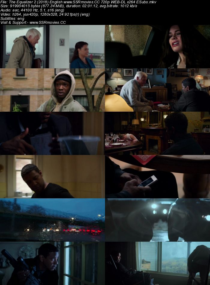 The Equalizer 2 2018 English WEB-DL 480p 720p 1080p ESubs