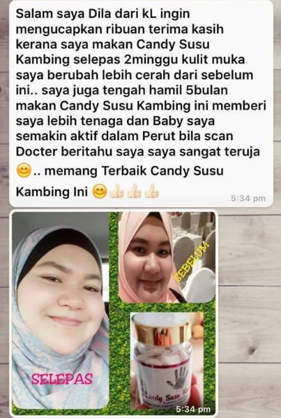 review candy susu kambing kurma madu