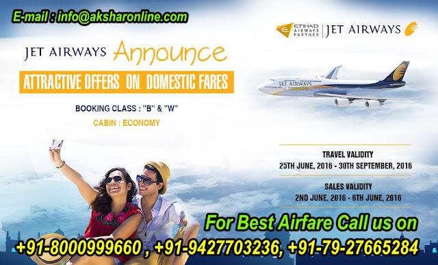 JetAirways Sale....www.aksharonline.com Akshar Infocom, akshar tours and travels, akshar tours, akshar holidays, travel agent in ahmedabad