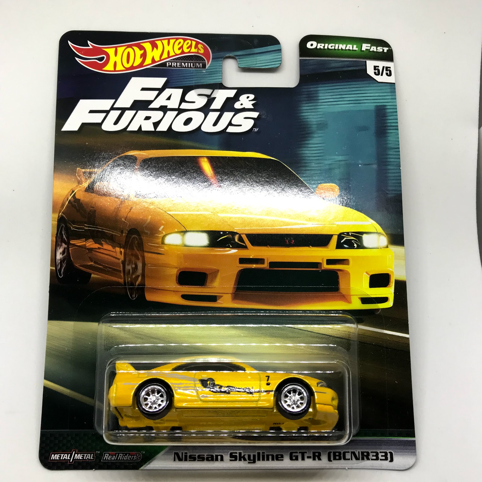 BCNR33 Hot Wheels Fast /& Furious Nissan Skyline GT-R with Real Riders
