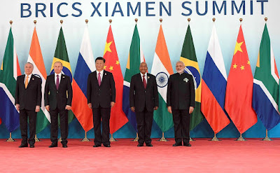 Participants in the BRICS summit.
