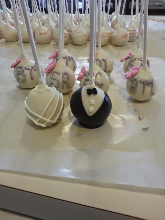 Wedding Cake Pops 26 Elegant KMR Cake Pops Bride