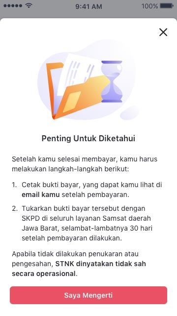 pengesahan data Layanan e-Samsat di Bukalapak Khusus Jawa Barat