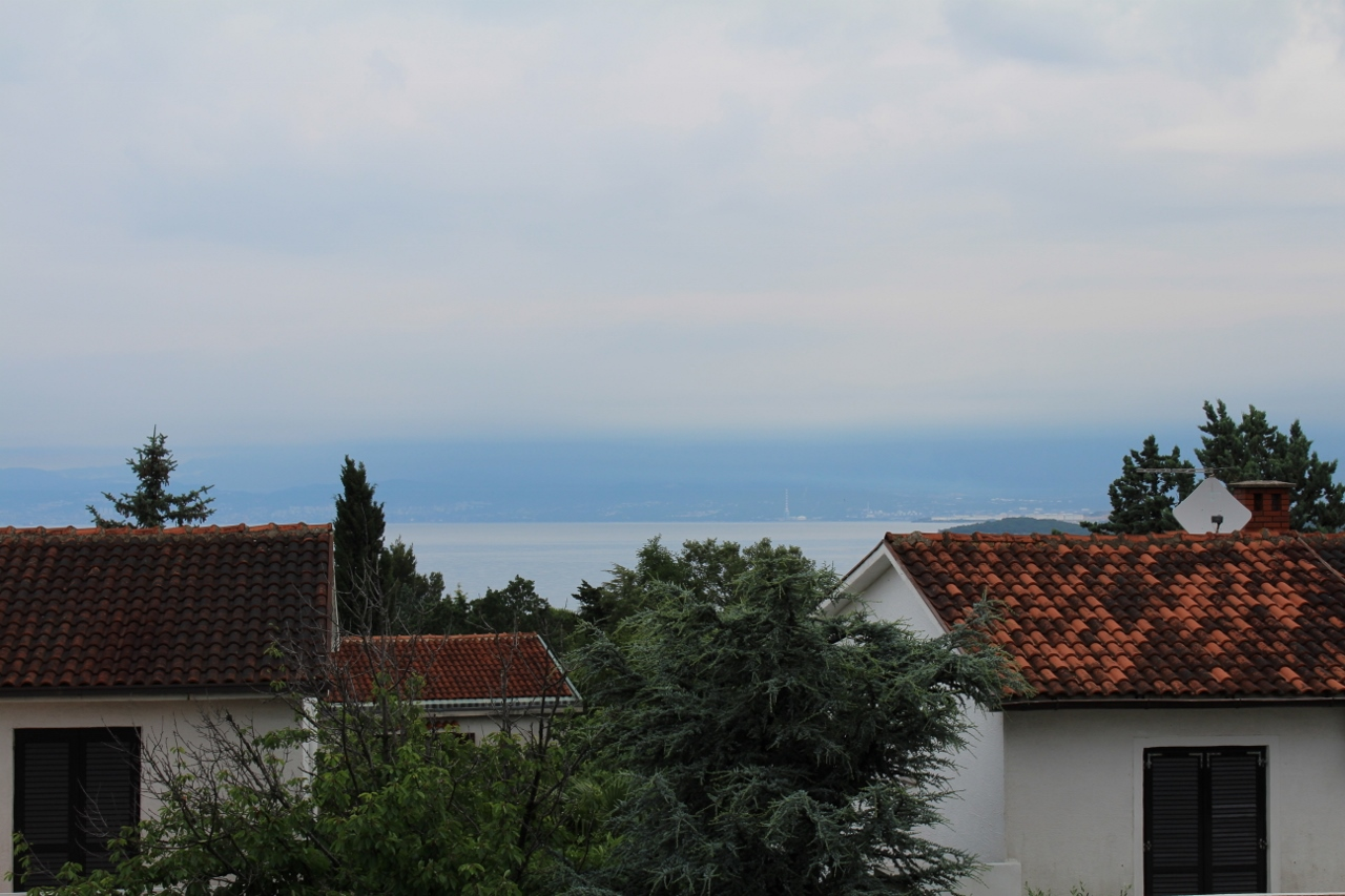 View from apartment in Malinska, Krk Island Croatia