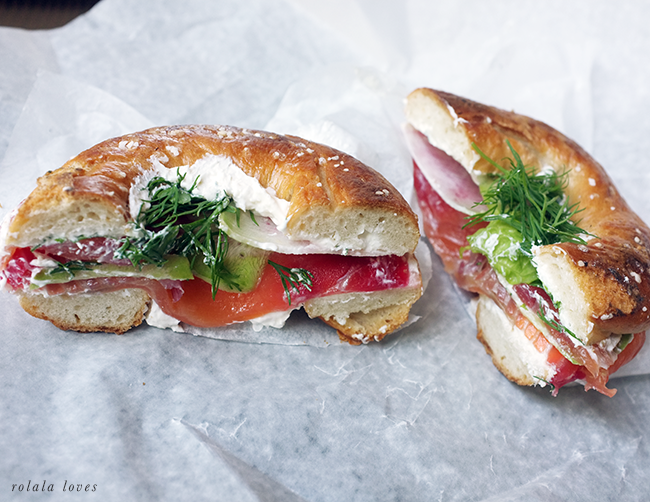Black Seed Bagels Sandwich