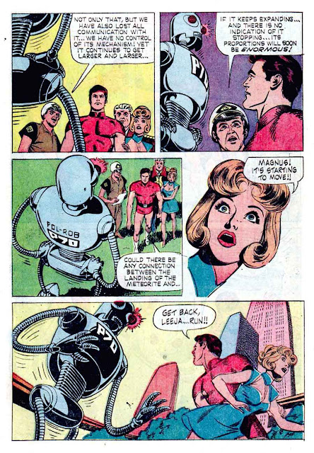 Magnus Robot Fighter v1 #14 gold key silver age 1960s comic book page art by Russ Manning
