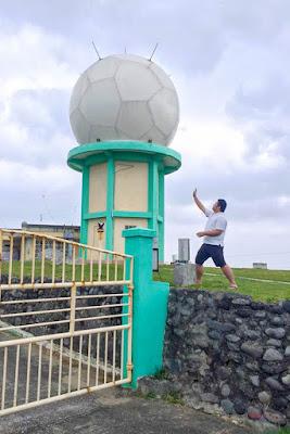 Fitz Balba in PAGASA Tukon Radio Station, Batanes