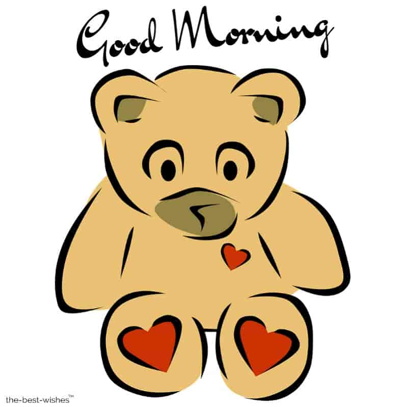 good morning teddy bear images download