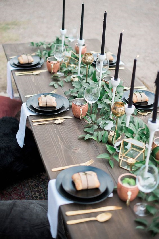 velas altas largas finas decoracion bodas ideas