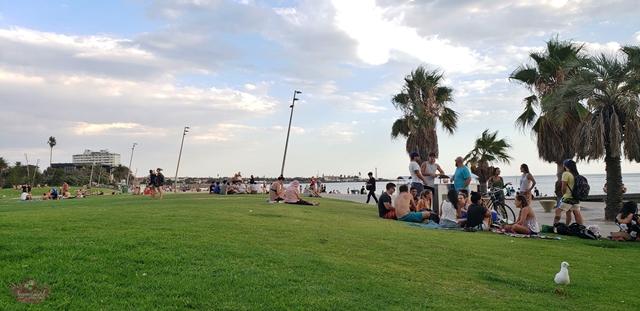 St Kilda Beach em Melbourne