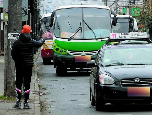 microbuses, taxis colectivos y transporte escolar