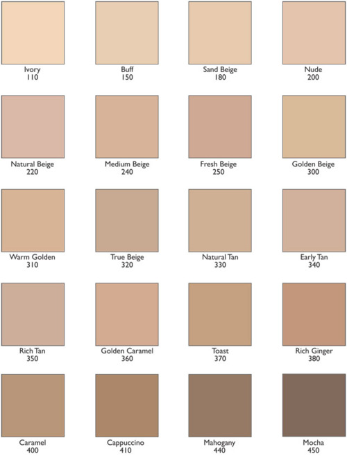 Revlon ColorStay Foundation Color Chart