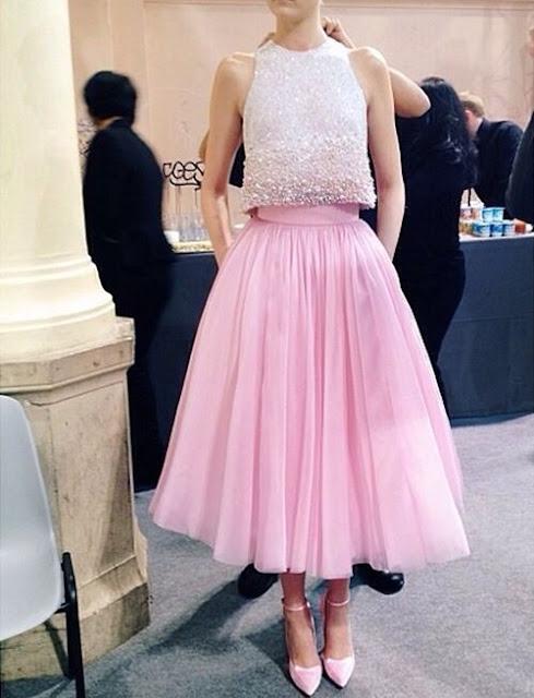 looks con falda tutu larga rosada