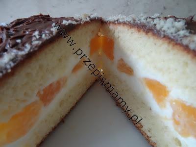 Ciasto ze śmietaną i pomarańczą