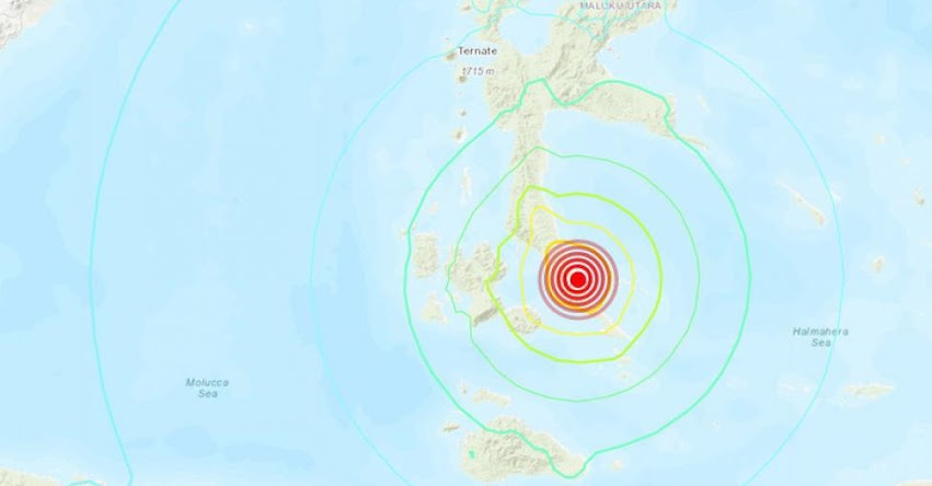 Terremoto en Indonesia de Magnitud 7.3 - Alerta de Tsunami (Hoy Domingo 14 Julio 2019) Sismo - Temblor - Epicentro - Halmahera - Laiwui - Molucas - USGS - www.earthquake.usgs.gov