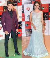 Gurmeet Choudhary with wife Debina Bonnerjee Walk the Red Carpet of Zee Awards 2017i ~  Exclusive Galleries 011.jpg