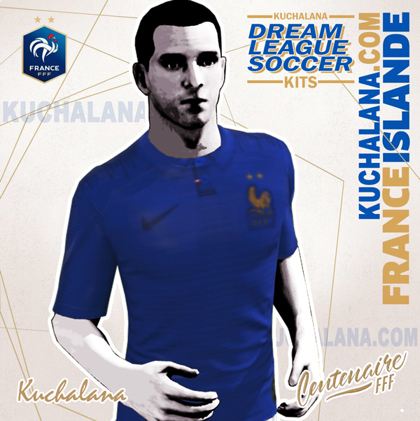and the package includes complete with home kits Baru!!! France 1919-2019 Centenary Kit - Dream League Soccer Kits