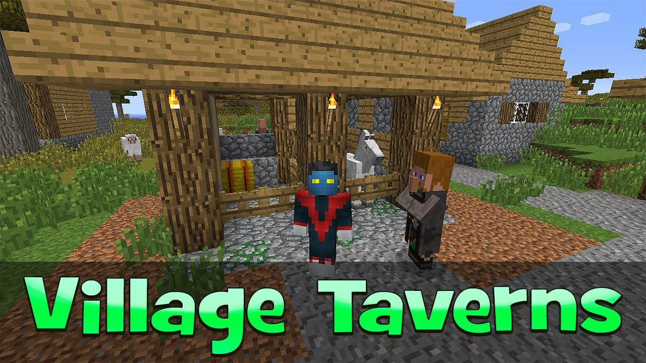 Village Taverns  Como Instalar Mods No Minecraft - Os melhores