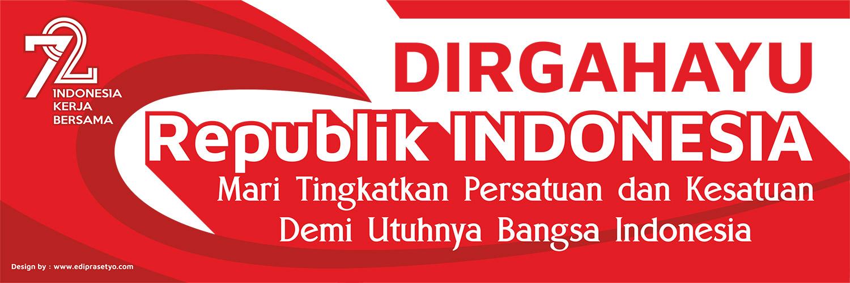 Gambar Download Desain Banner Hut Kemerdekaan Indonesia 72